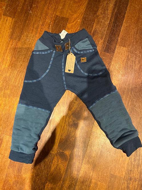 Bukse sydd i dobbeltstrikket merinoull str 110/5år