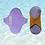 Thumbnail: Kit absorvente P,M,G - Lilás