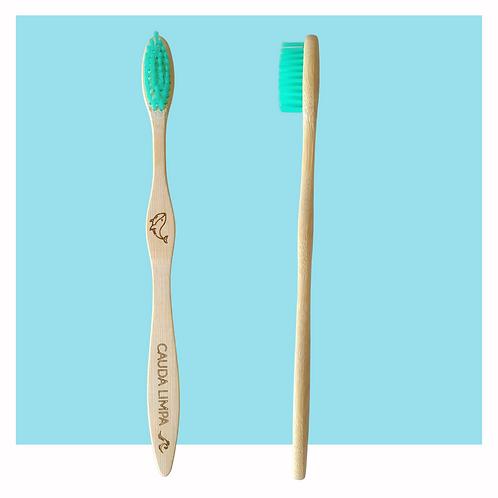 Escova dental de bambu - verde