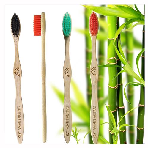 Escova de Bambu Adulto (Escolha a cor)