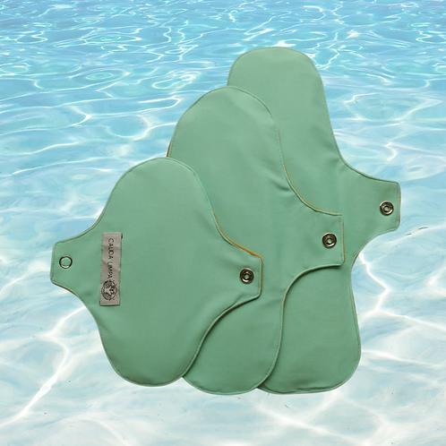 Kit absorvente P M G - Verde água