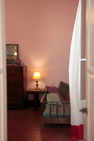 Bed and Breakfast Holy Chic homes la vie en rose pondicherry india interior design style french quarters colonial architecture true vintage traditional agathe lazaro pink bedroom