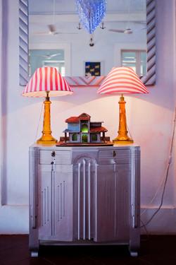 Lamp shade & stand