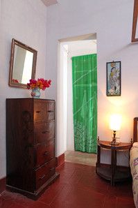 bedroom double decoration Bed and Breakfast Holy Chic homes la vie en rose pondicherry india interior design style french quarters colonial architecture true vintage traditional agathe lazaro sari bougainvilleas green