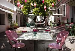 Restaurant backyard
