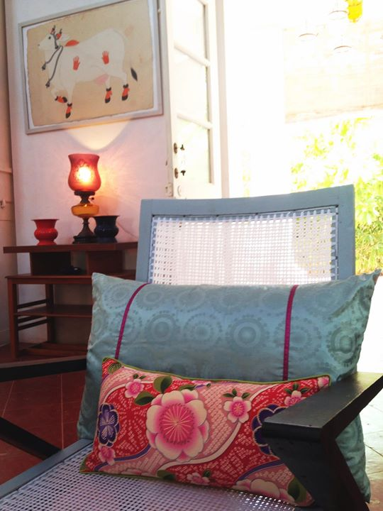 Japanese and African fabrics meets on our art deco chairs