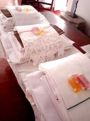 towels rose soap bathroom Bed and Breakfast Holy Chic homes la vie en rose pondicherry india interior design style french quarters colonial architecture true vintage traditional agathe lazaro