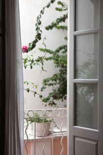 view bougainvilleas window balcony Bed and Breakfast Holy Chic homes la vie en rose pondicherry india interior design style french quarters colonial architecture true vintage traditional agathe lazaro