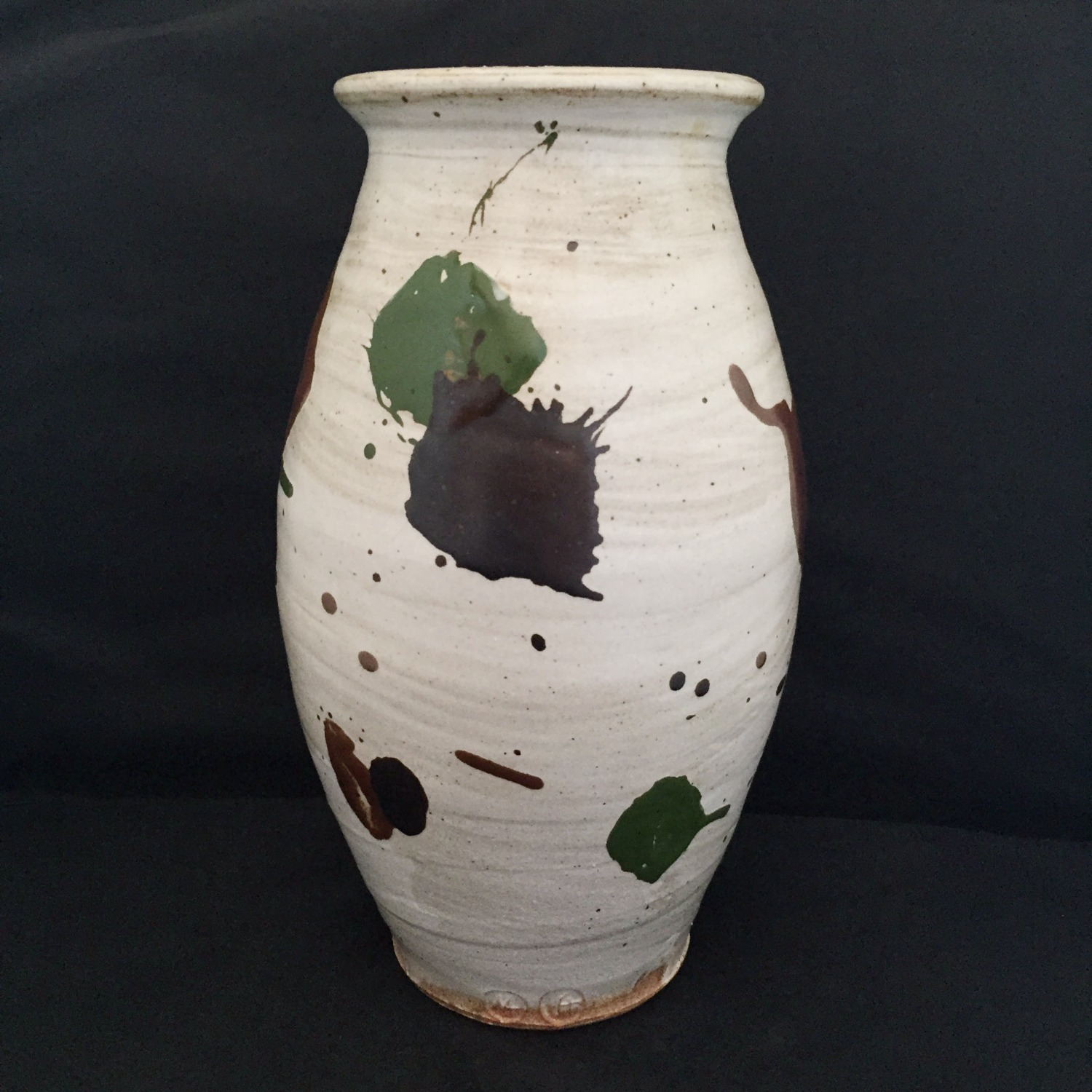 Tall splattered vase