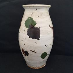 Tall splattered vase