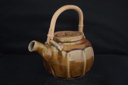Warren wide faceted amber teapot