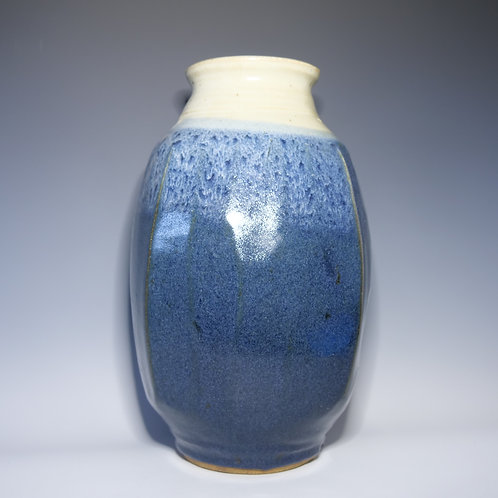 Warren MacKenzie Tall Blue Vase 13""