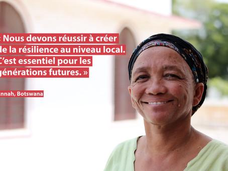 """""""Nous devons réussir à créer de la résilience au niveau local."""""""