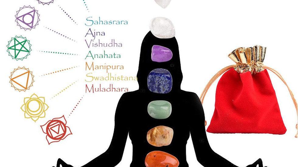 7 Chakra Stones Irregular Reiki Healing Crystals Stone Polished Individual