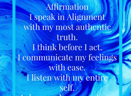 Throat Chakra Daily Affirmations