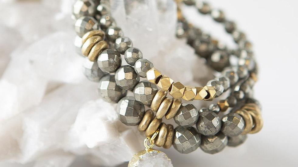 Pyrite Gemstone Bracelets