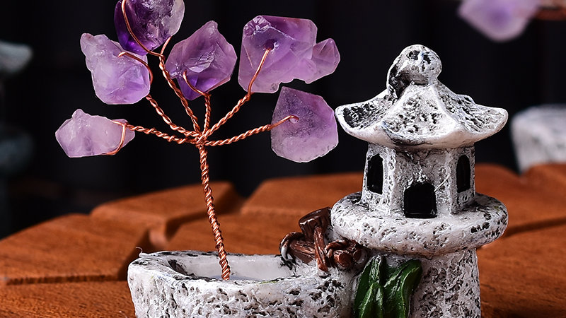 1PC Natural Amethyst Tree Crystal Quartz