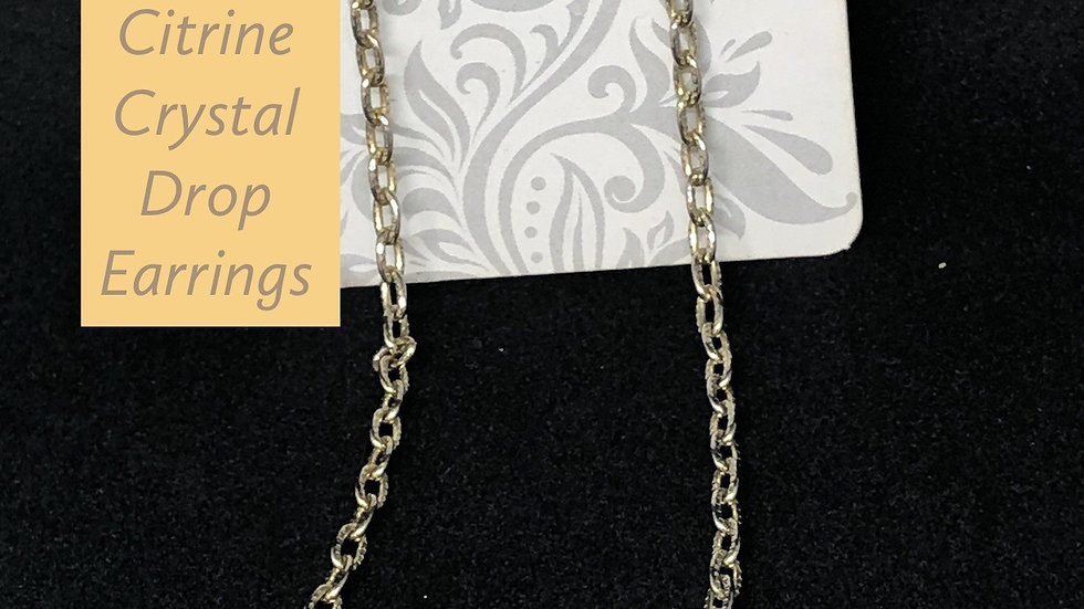 Citrine Crystal Drop Earrings