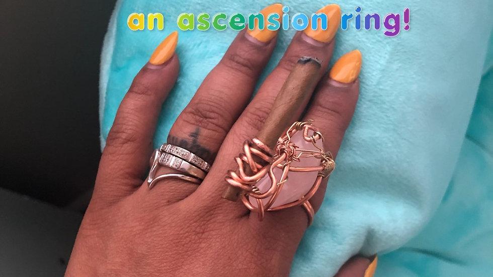 Rose Quartz Ascension Ring