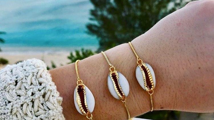 Natalia Cowrie Shell Adjustable Bracelet