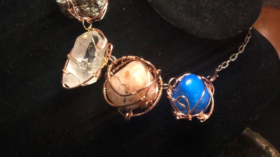 Spiritually Dope 4 Stone Manifestation Necklace
