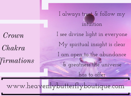 Crown Chakra Chakra Daily Affirmations