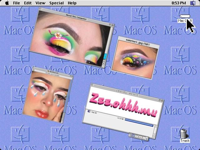 zee.ohhh.mu influencer old mac animation 90's
