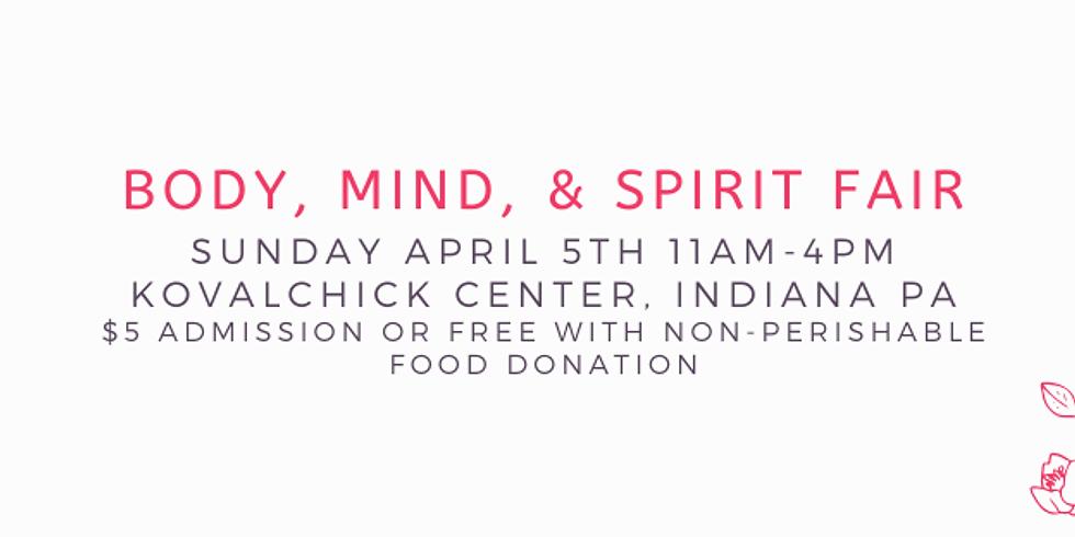 Readings at Indiana Body, Mind, & Spirit Fair