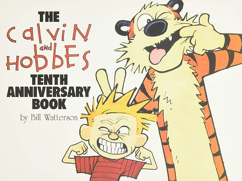 The Calvin and Hobbes Tenth Anniversary Book by Bill Watterson (used)