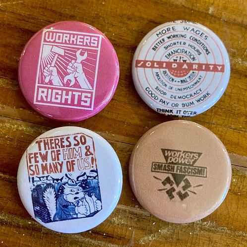 Workers Power Button Pack #1