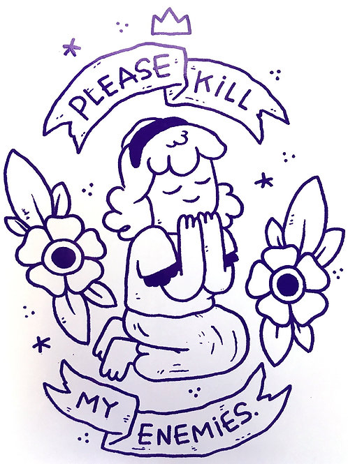 Please Kill My Enemies Sticker