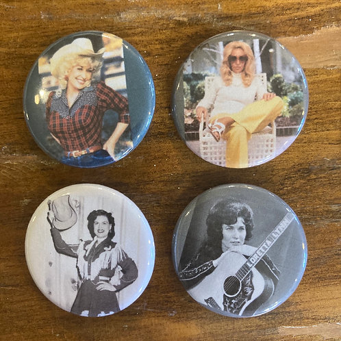 Queens of Classic Country Button Pack