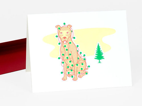 Merry Christmas Dog card