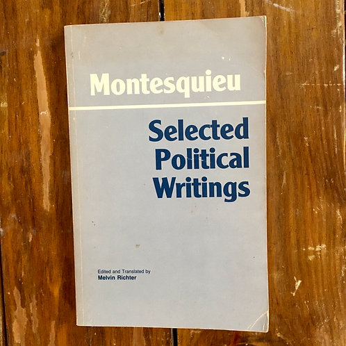 Montesquieu: Selected Political Writings (used)