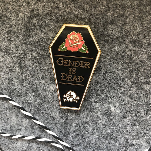 Gender Is Dead pin