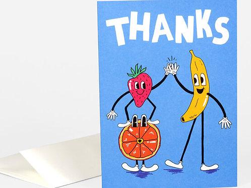 Thanks Fruit Card