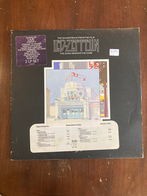 """Led Zeppelin, """"The Song Remains the Same"""" USED Promo"""