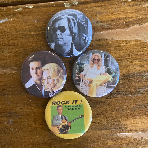 George and Tammy Button Pack