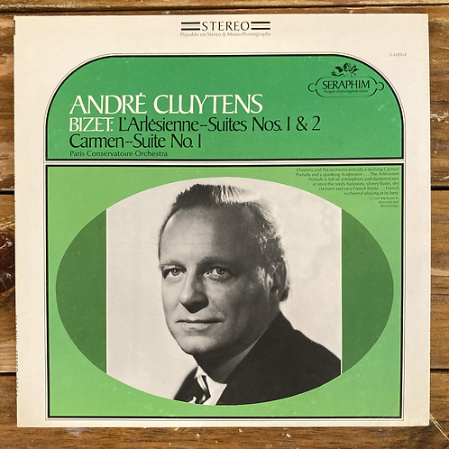 "Andre Cluytens, ""Bizet: L'Arlesienne Suites Nos. 1 & 2, Carmen Suite No. 1"" USED"
