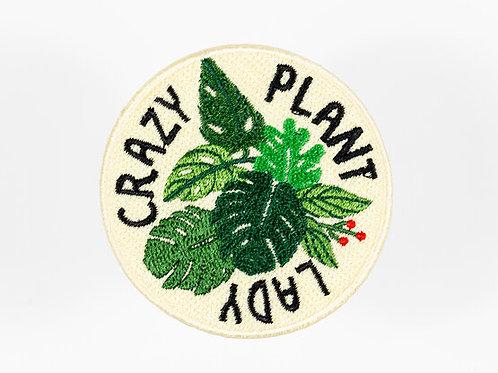 Crazy Plant Lady iron-on patch