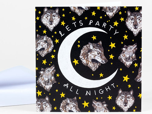 Party All Night card