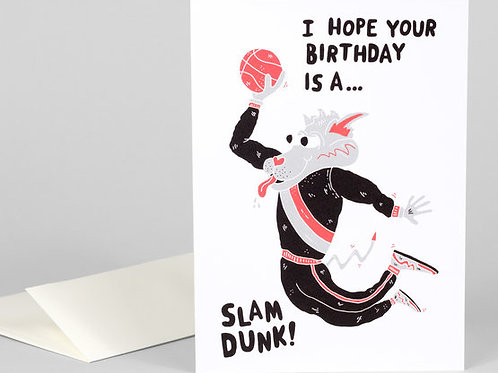 Happy Birthday Slam Dunk Card