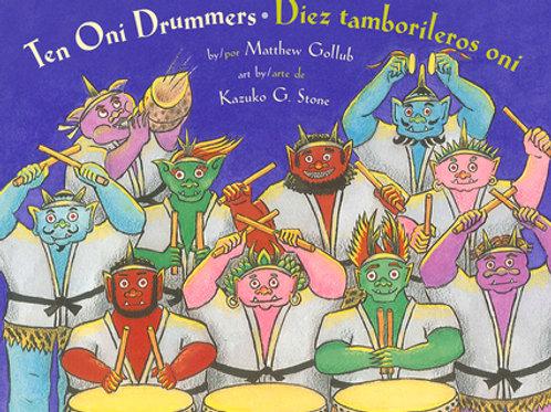 Ten Oni Drummers/Diez tamborileros oni
