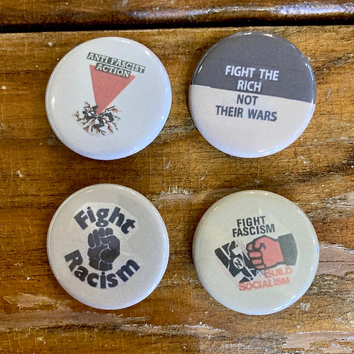 Fight Fascism Button Pack