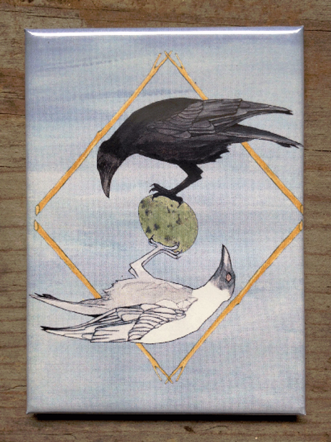 Mirror Crow Magnet