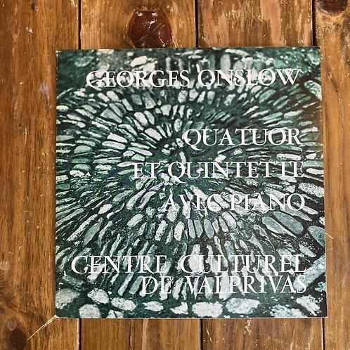"Georges Onslow, ""Quatuor Et Quintette Avec Piano"" USED"