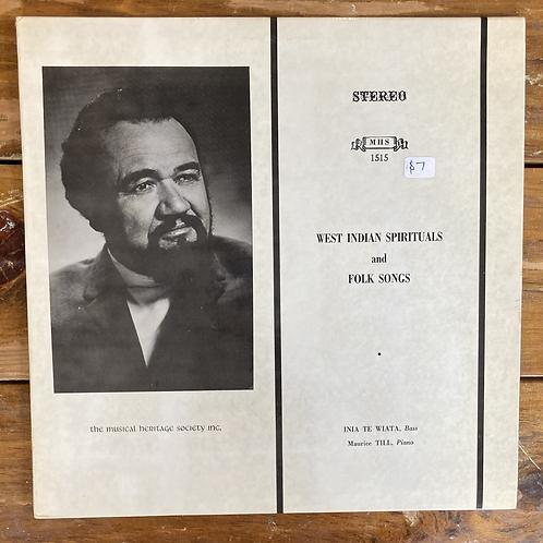 "Inia Te Wiata, ""West Indian Spirituals & Folk Songs"" USED"