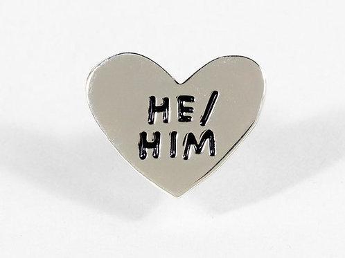 He/Him Pin