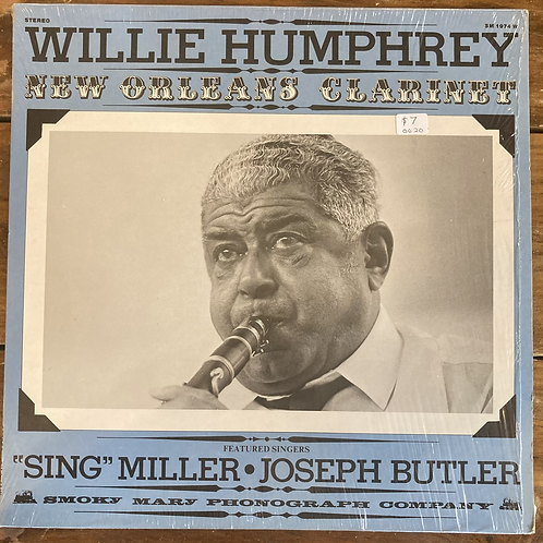 """Willie Humphrey, """"New Orleans Clarinet"""" USED"""