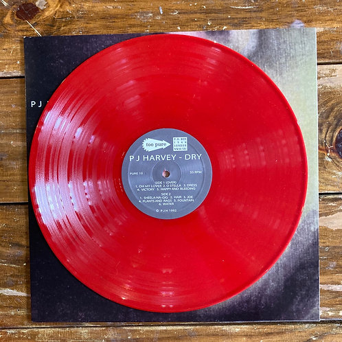 "PJ Harvey, ""Dry"" Red Vinyl UK USED"